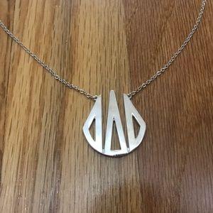 DELTA DELTA DELTA silver necklace